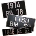 Plaque d'immatriculation moto 17 x 13 cm