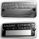 Plaque de carrosserie Citroen