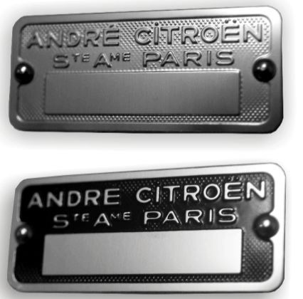 plaque de carrosserie citroen. Black Bedroom Furniture Sets. Home Design Ideas