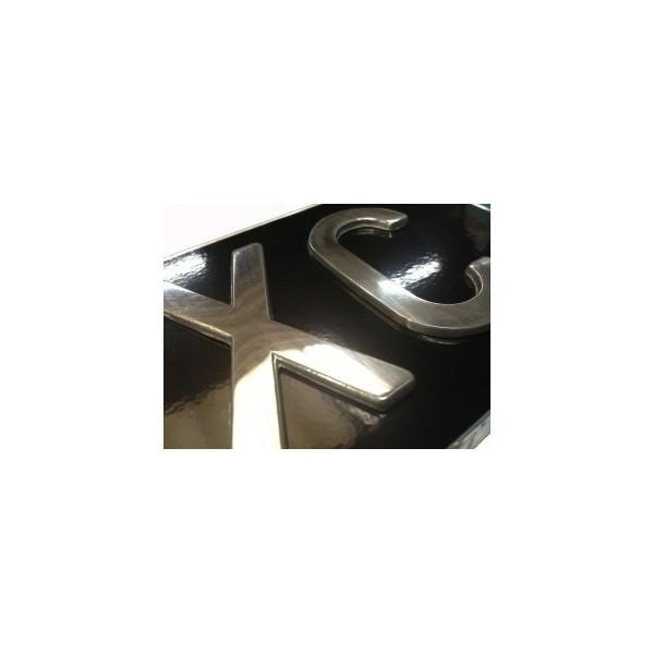 plaque d 39 immatriculation auto noire 30 x 20 cm. Black Bedroom Furniture Sets. Home Design Ideas