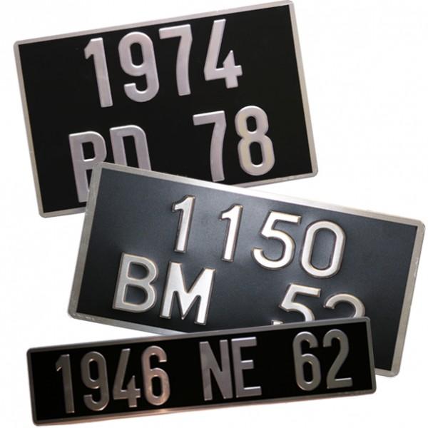 plaque d 39 immatriculation auto noire 45 5 x 10 cm. Black Bedroom Furniture Sets. Home Design Ideas