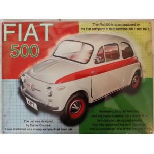 Plaque Fiat 500 metal