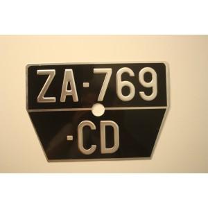 4CV plaque arrière